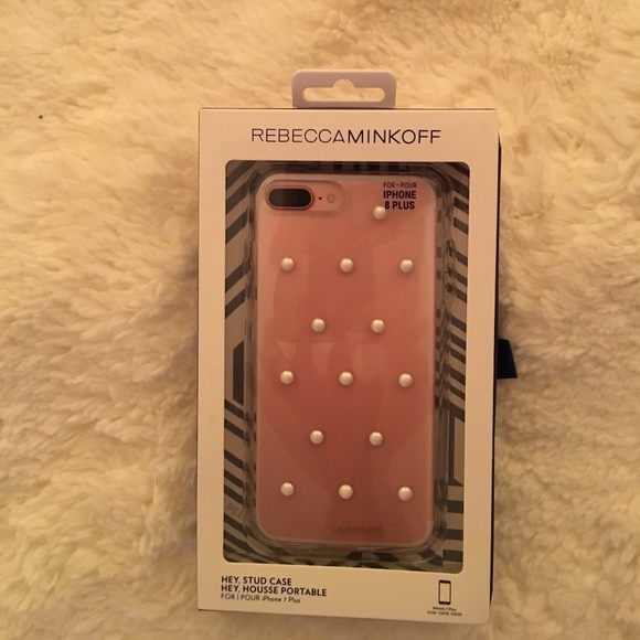 size 40 da845 fd967 iPhone 8 PLUS Clear Case w/ Pearl Studs NWT